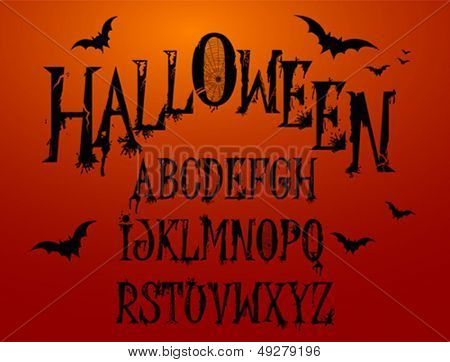 Halloween Splash Alphabet for your design