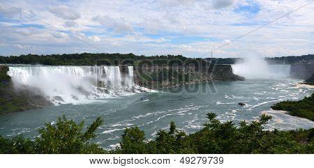 American And Horseshoe Falls, From Niagara Falls, Ontario