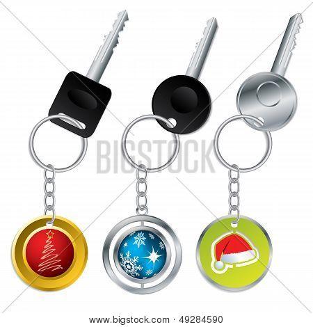 Keys With Christmas Theme Keyholders