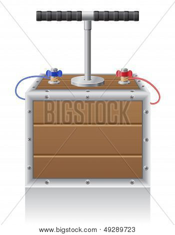 Detonating Fuse Vector Illustration