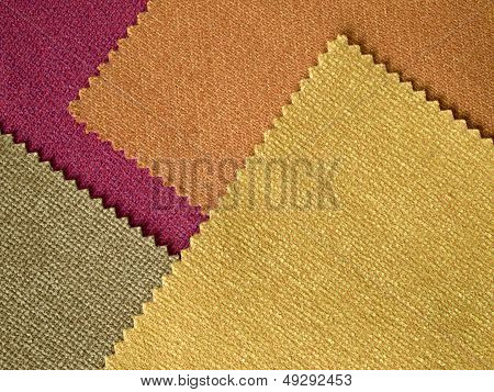 Sample Fabric Hot Tone Color Layer