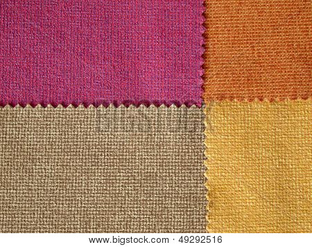 Sample Fabric Hot Tone Color