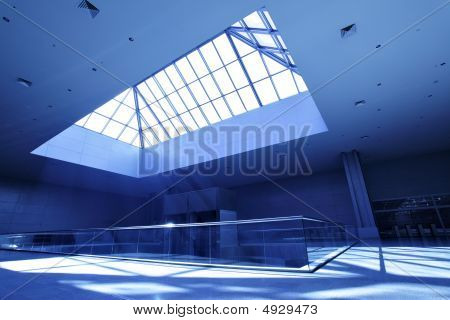 Interior With Skylight Window