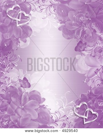 Wedding Invitation Lavender Background Elegant