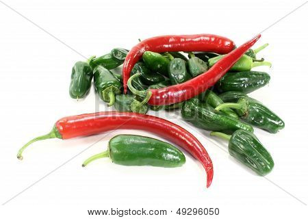 Pimientos With Hot Peppers
