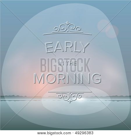 Misty morning background