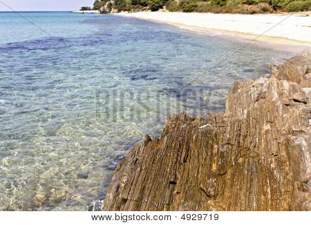 Rocky Beach At Chalkidiki, Greece (kalogria Area)