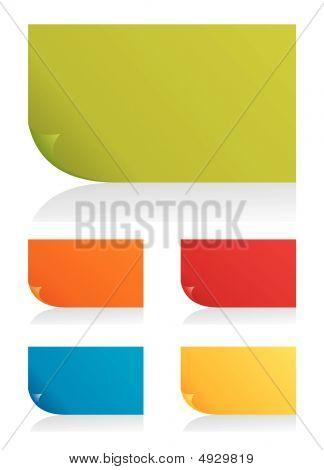 Conjunto de vectores Color página esquinas