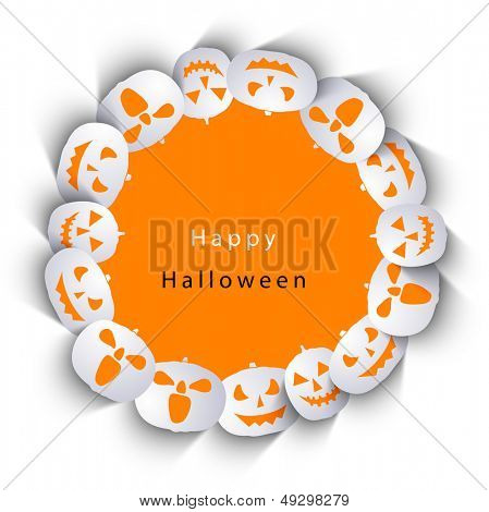 Sticker, tag or label with Halloween Pumpkins.