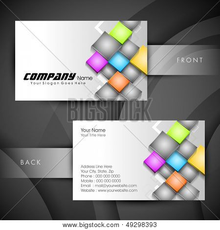 Professional and designer business card set or visiting card set.