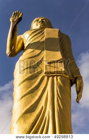 Standing Buddha In Wat Mokkanlan , Chomthong Chiangmai Thailand