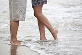 pic of wet pants  - couple kissing on the beach - JPG