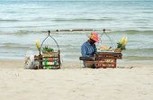 Seller On The Beach