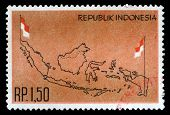 INDONESIA - CIRCA 1963: stamp printed by Indonesia, circa 1963