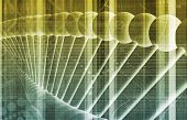 foto of pharmaceutical company  - DNA Background with a Science Helix Strand - JPG