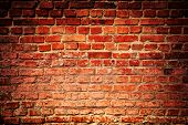 pic of evil  - Old grunge brick wall background - JPG
