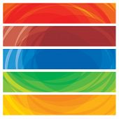 pic of colorful banner  - Abstract artistic colorful collection of banner templates - JPG