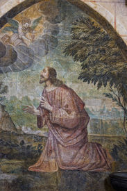 image of poitiers  - Jesus on the mount of olives - JPG