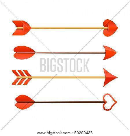 Cupid's arrows. Vector.