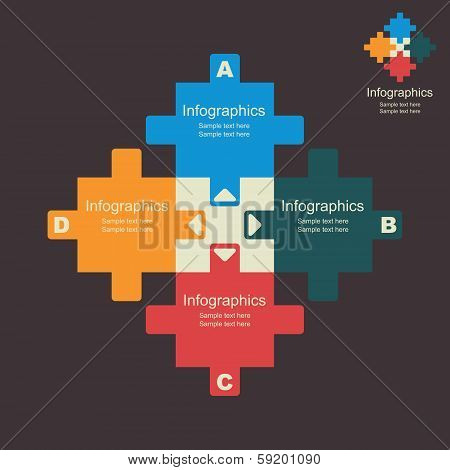 creative puzzle info-graphics