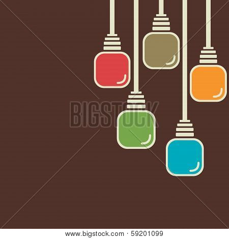 abstract colorful bulb background
