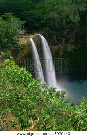 Wailua Falls on Kauai, Hawaii