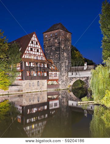 Nuremberg, Germany at Executioner's Bridge.