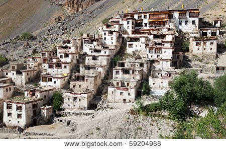 Lingshed (lingshet, Lingshot) Gompa - Buddhist Monastery In Zanskar Valley - Ladakh - Jamu And Kashm
