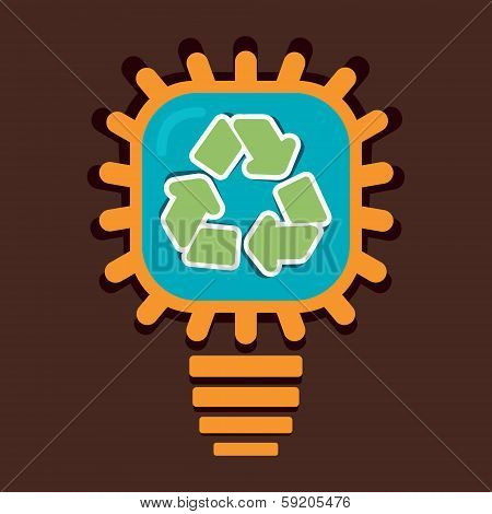 recycle symbol in bulb