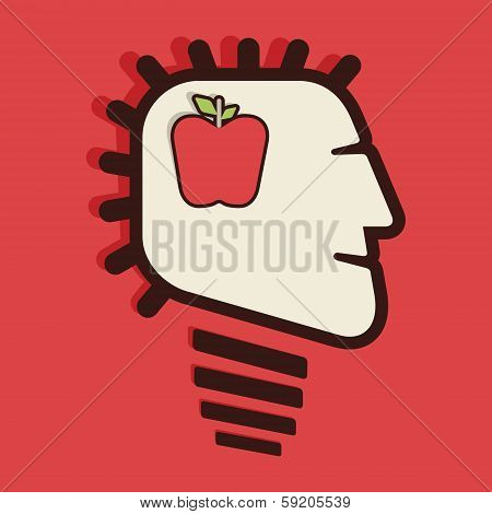 apple in human head