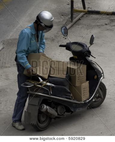 Motorcycle Delivery Man