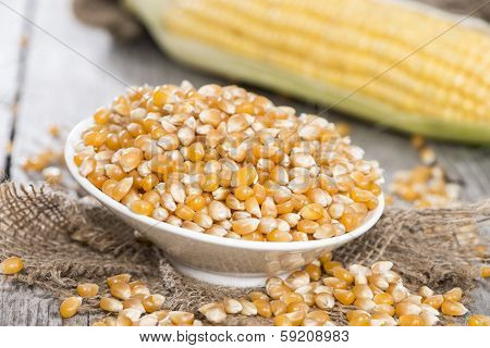 Small Bowl With Dried Sweetcorn