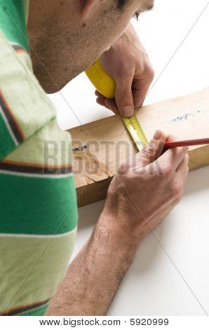 Messung der Holzarbeit