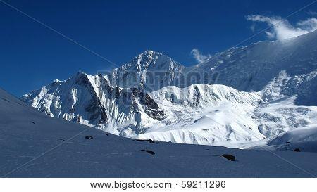 Beautiful mountain landscape near Tilicho Lake