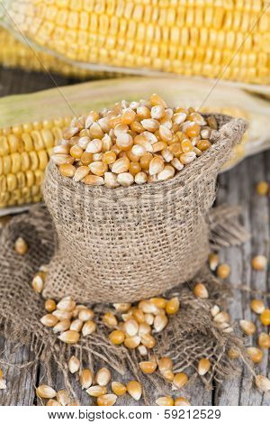 Bag With Dried Sweetcorn