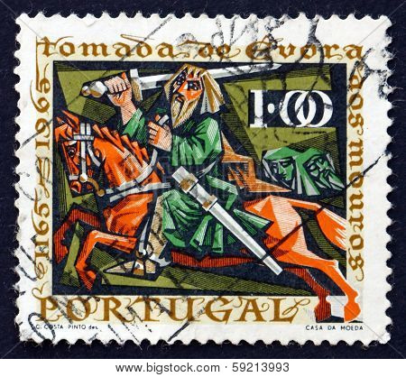 Postage Stamp Portugal 1966 Knight Giraldo On Horseback