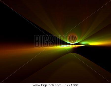Comet Incoming - 3D Fractal Illustration