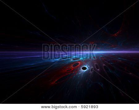 Quantum Holes -fractal landscape