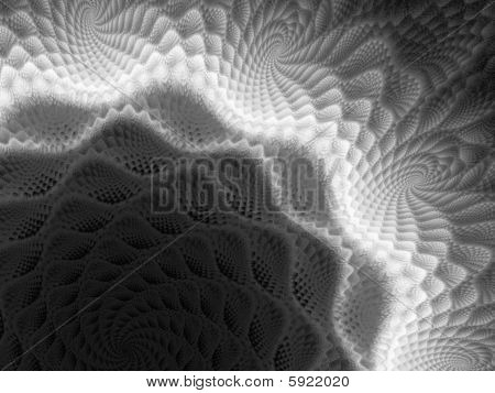 Black on White Monochrome Spirograph - Fractal Design