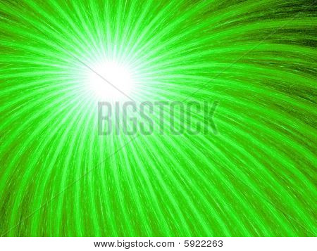 Neon Green Fireworks - Fractal Illustration