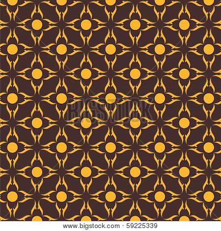 creative abstract  flower seamless pattern stock vector