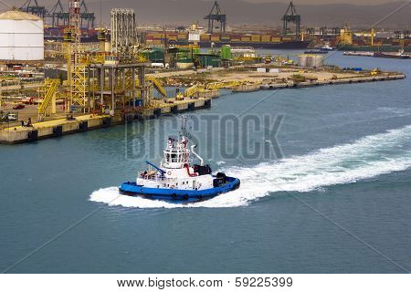 Operating In The Port Of Barcelona