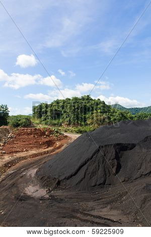 Coal Stock pile in mine