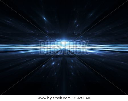 SpaceTime Horizon - Fractal Illustration