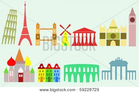 travel background, European cities