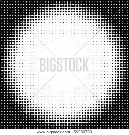 Halftone Circle Background