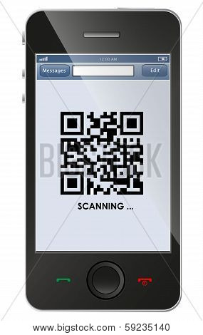 Qr Code On Smart Phone