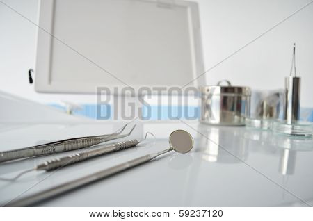 Dental Equipment On Dental Unit