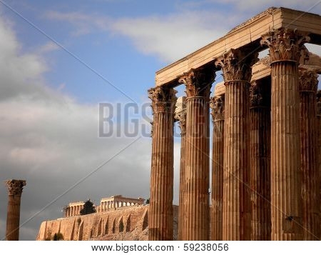 Greek Temple and Acropolis