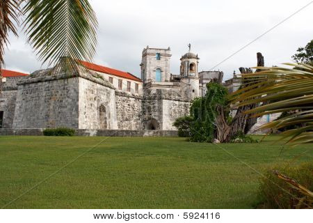 Old Fortress In The Historic Neighbourhood In Havana